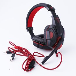 Wholesale Headphone Hd Over Ear - ortable Audio Video Earphones Headphones Bass HD Gaming Headset Mic Stereo Sound Gamer Over-ear Headband Headphone Noise Cancelling with ...
