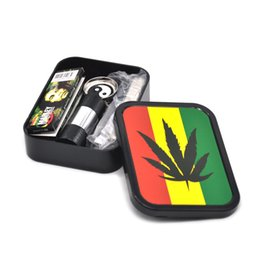 Wholesale Tobacco box Set Plastic storage Case with herb Grinder Pollen Press Rolling machine and Rolling papers