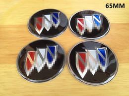 4 Pcs Preto Car Auto Domo Emblema Emblema Centro de Roda Tampa do Cubo Decalques Adesivos fit Para BUICK 56 MM / 65 MM de
