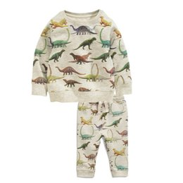 Wholesale Dinosaur Pants - Cool Dinosaur Play set Sweatshirt sets Boys clothing Knit Pullover Top + pant 2pcs set 2017 Fall Spring Winter Wholesale 2-7T