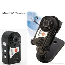 Wholesale Ip Camera Iphone Support - Mini P2P WiFi IP Camera HD DVR Hidden Spy Camera Video Recorder Indoor   Outdoor Motion Detection Security Support iPhone Android Q7