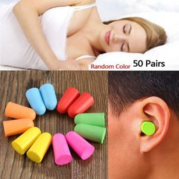 Wholesale Protectors Earplugs - 50 Pairs lot Soft Classic Foam Ear Plugs Sleep Noise Reduction Travel Sleep supplies Noise Prevention Earplugs