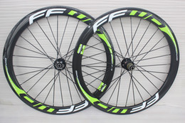 Wholesale Carbon Road Disc - 25mm width 50mm carbon wheels disc brake hub FFWD F6R full carbon wheels 50mm 700C rim full carbon wheelset bicycle wheel free shipping