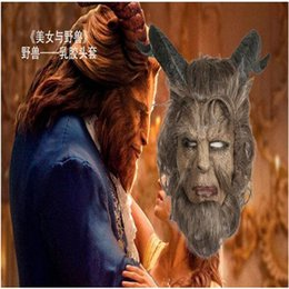 Wholesale Men Masks For Sale - 2017 New Hot Sale Famous Movie Beauty and the Beast Adam Prince Mask Cosplay Horror Mask Latex Lion Helmet Halloween Party