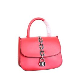 Wholesale Genuine Leather Shoulderbag - Factory Wholesale loysvitom women fashion bags fauxs nautical chain with it padlock in front handbags calfskin shoulderbag dustbag
