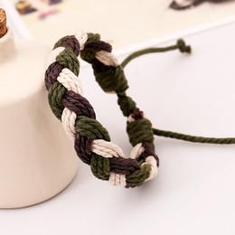 Wholesale America Food - Europe and America Handmade hemp rope woven bracelets fashion jewelry unisex men and women fashion braide twist bangle wholesale