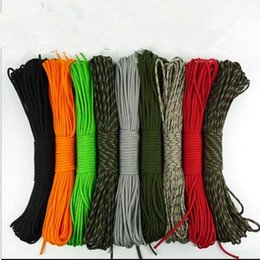 Wholesale Umbrella Rope - 100ft 7Strand 550 Survival Bushcraft Paracord Parachute Cord Umbrella Rope Camping Survival Equipment Emergency Climbing KKA2365