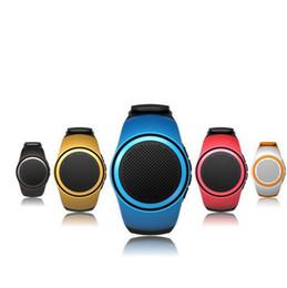 Wholesale Mini Alarm Speaker - B20 Watch Bluetooth Speaker Mini Portable Speakeres Watch Handsfree Self Timer With Alarm MP3 TF Card FM Audio Radio Speakers