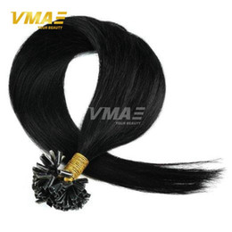 Wholesale Hair Extensions Keratin Colors - Straight Brazilian Virgin Hair U-tip hair extensions All Colors 1g strand 100g Cheap Remy Keratin Nail Pre bonded hair 7A Grade