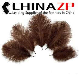 Wholesale Party Dress Manufacturers - Gold Manufacturer CHINAZP Crafts Factory 15~20cm(6inch~8inch) Length Fantastic Fancy Dress Party Decoration Dyed Brown Ostrich Feathers