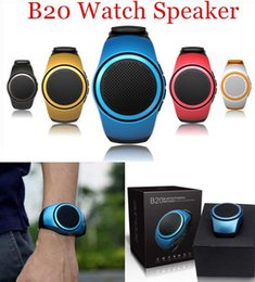 Wholesale Music Box Card - ZZYD B20 Mini Bluetooth Speaker Bass Smart Watch Bluetooth Wireless Universal For Music Player With TF Card.