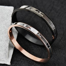 Wholesale Invisible Han - Han edition 18 k rose gold plated couple bracelets for men and women a Mosaic gold bracelets, titanium steel jewelry couple bracelet gift