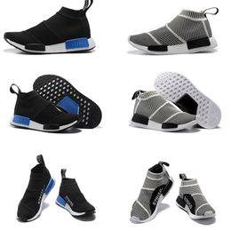 Wholesale Mens Outdoor Socks - NMD_CS1 PK Runner City Sock Nmd Cs1 CS 1 Mens Women Classic Running Shoes Fashion City Sock Cs1 Primeknit Grey Sports Sneakers size36-44
