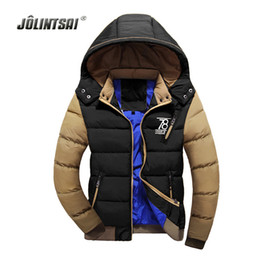 Wholesale Worsted Coat Mens - Wholesale- Brand Clothing Winter Jacket Men Warm Cotton Down Coats Windproof Chaqueta Hombre 2017 Winter Jackets Mens Luxury Parka Men