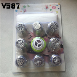 Wholesale Tulip Bag Wholesale - Wholesale- 9Pcs set Russian Tulip 8Pcs Icing Piping Nozzles+1Pc Confectioner + 3Pcs Piping Bags Cake Decoration Decor Tips Tool