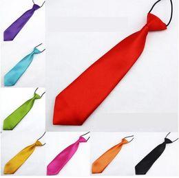 Wholesale British Neckties - Children's Accessories Hot New pure color Baby Boys necktie British Style Fashion Party Wear Kids Tie Bow 7587