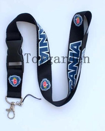 Wholesale Cars Card Holder - sell 10pcs Hottest SCANIA Car logo Lanyard With Buckle and ID Card Credit Card Holder PU Double-faced
