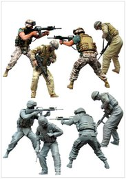 Wholesale Resin Figure Model Kit - Wholesale- 1 35 scale resin model figures kit USMARINES HUMVEE CREW IN FIHGT
