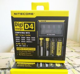 Wholesale Lithium Charger 12v - digital nitecore intellicharger D4 charger for lithium ion 18650 battery high power 12V smart battery charger new niteocre D4