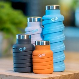 Wholesale Sport Bottle Bpa Free - Collapsible Water Bottle BPA Free, Leak Proof, Lightweight retractable Reusable Silicone Travel Sports Camping Water Bottles