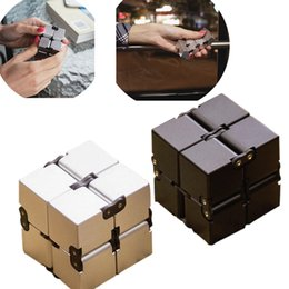 Wholesale Cool Toys For Big Kids - 2017 New Cool toy Luxury EDC Infinity Cube Mini For Stress Relief Fidget Anti Anxiety Stress Funny Adult Children Kids Funny Toys Best Gift