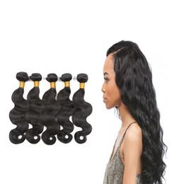 Wholesale Cheap Chinese Goods - 7A Brazilian virgin hair body wave natural black unprocessed good hair products cheap brazillian remy human hair weave bundles
