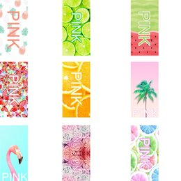 Wholesale Pink Beach Towels Yoga Mats Bath Towel VS Fruit Flamingo Rose Flower Washcloth Faceclothes for Women Outdoor Spa CM CM ht2