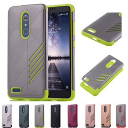 Wholesale Zte Blue - Hybrid Phone Cover Case for Huawei P8 Lite 2017   ZTE ZMax Pro Carry Z981 Armor Hard Soft Impact Tough Shockproof Protective Shell