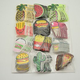Wholesale Applique Badges Patches - 120Pcs Embroidery Mix Iron On Patch Donuts Fruit Badge Bag Clothes Fabric Applique