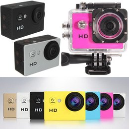 Wholesale Fixed Focus Cameras - New SJ4000 Mini Action Digital Camera 1080P HD Cam Waterproof 30M Sport DV Camcorder Black White Silver Red Yellow Gold Blue