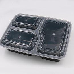 caja desechable de contenedores de almuerzo Rebajas Porción del precio de fábrica de comidas de preparación contenedores de almacenamiento de alimentos de microondas de control desechables recipientes con tapas para fiambrera bandeja cubierta con WN005