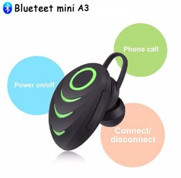 Wholesale A3 Bluetooth - The Beatles A3 Wireless Bluetooth Earphone Sport Stereo Mini In-ear Headset Earpiece Music Earphone Hands-Free Microphone with retail box