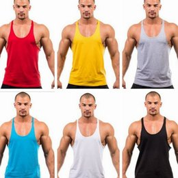 Wholesale Mens Gym Vest Wholesale - Gym Singlets Mens sports vest Mens Tank Tops mens Bodybuilding tanks Men's Golds Gym Stringer Tank Top Sports Clothes