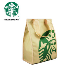 Wholesale Handbag Coolers - Women starbucks cooler Thermal insulation bag package portable lunch picnic bag thickening thermal breast cooler bags box Shopping Handbag