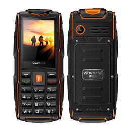 Wholesale Card Torch - VK V3 2.4 Inch IP68 Waterproof Rugged Mobile Phone Triple Sim Card 3000mAh Power Bank Battery 50M Torch
