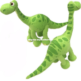 Wholesale Good Teddy Bears - 2 styles cute Pixar Movie The Good green Dinosaur Arlo Dinosaur Stuffed Animals Plush Soft Toys for kids christmas gifts