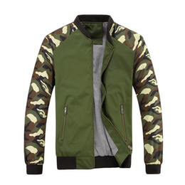 Wholesale Mens Long Military Coats - Jacket Men 2017 New Spring Mens Jacket Fashion Jacketmen Cotton Outerwear Coats Patchwork Military Camouflage Jacket For Men