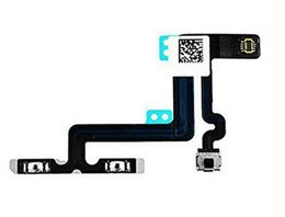 Wholesale Flashing Power Button - 100% Original Power Volume Flash Mute Switch Button Control Flex Cable With Microphone for iphone 5G 5S 5C 6 6 plus 6S 6S Plus 7G 7Plus