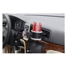 Wholesale Car Vent Cup Holders - New Arrival Car Water Bottle Cup Glass Outlet Air Vent Phone Holder Car Drink Bottle Holder
