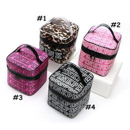 Wholesale Wholesale Girls Cosmetic Bags - VS PINK Cosmetic Bag Victoria Classic Love Pink Secret Double Zipper Handbag Portable Storage Bag Pink Letter Organizer Travel Pouch