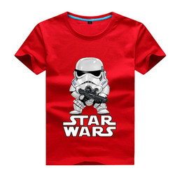 Wholesale Short Enfant - 2017 movies Star Wars children boys t shirt kids Star Wars Printed shirt kids clothes boys t-shirt top children clothing enfant Short-sleeve
