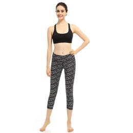 Wholesale black fitness women hot - Hot! NEW Fashion Women yoga Running Pants S-XL size Printing High Waist Fitness Yoga Pants Seven Yoga Pant