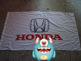 Wholesale Cm Club - HonDa car logo flag,HonDa car racing club flag, 90*150CM polyster banner 100% polyester