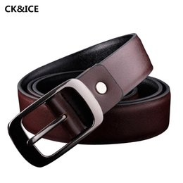 Wholesale Wholesale Designer Men Belts - Wholesale- New 2017 Luxury Brand Belt Men Fashion Pin Buckle Belt Brand Mens Casual All-Match Pu Leather Designer Belts For Man