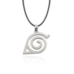 Wholesale Konoha Logo - Hot Anime Naruto Necklace Kakashi Leaf Village Symbol Cosplay Pendants Necklaces Kakashi Konohagakure Konoha Ninja Logo Jewelery