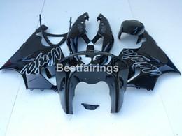 Wholesale Kawasaki Ninja Body Kit Parts - New hot body parts fairings for Kawasaki Ninja ZX7R 96 97 98 99 00-03 glossy black fairing kit ZX7R 1996-2003 TY38