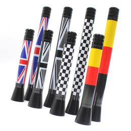 radiadores de plástico Rebajas Para MINI R55 R56 R57 R60 Cooper One Countryman JCW Jack Union Antena de fibra de carbono aérea Universal Fit Accesorio de coche con estilo