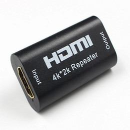 Wholesale Hdmi Boosters - Hot Sale Mini HDMI Repeater Extender HDMI Amplifier Booster 130FT 40M 1080p HDTV Signal Booster Adapter