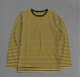 Wholesale Tshirt Vest Men - Kpop Bigbang Tshirt Women Men Moleton GD Yellow Striped Vest Cotton White T Shirt Harajuku Top Long Sleeve