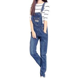 Wholesale Denim Overalls Women Rompers - Wholesale- Summer New Arrival Women Cowboy Jumpsuit Plus Size XXL Denim Overalls Female Fashion Skinny Denim Rompers Womens Jumpsuit